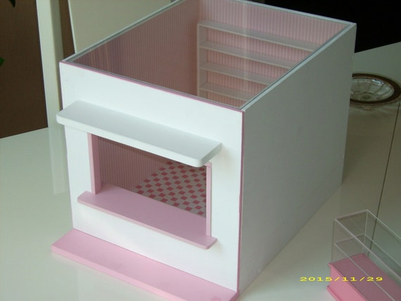 RESERVED Miniature ROOMBOX shop finished  1:12 scale dollhouse