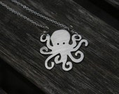 Octopus Silhouette Necklace