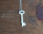 Skeleton Key Silhouette Necklace