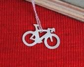 Sterling Roadbike Necklace