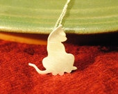 Sterling Kitty Necklace