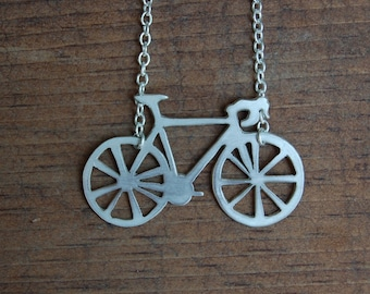 Bicycle Silhouette Necklace