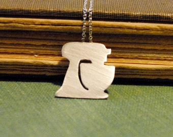 Stand up Mixer Silhouette Necklace