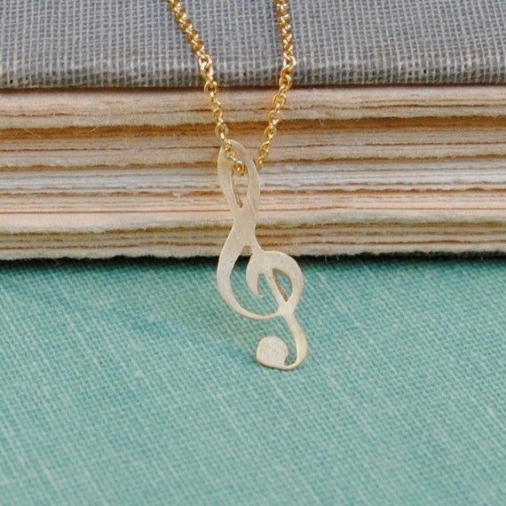 25% off Gold Music Note Necklace