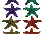Starfish Painting, Ocean Art, Abstract Wall Art, *Order Custom Size/Color*, ECHINODERM, sea star picture, painting of starfish
