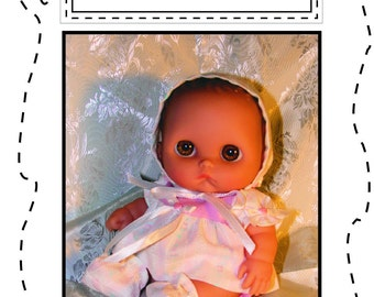 "8.5"" Lil' Cutesie--DOLL CLOTHES-PDF-for 8 to 8.5 inch chubby baby dolls - basic dress set (CB1000)"