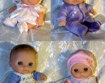 All 4 of my Lil Cutesie/Lots to Love doll clothing patterns for 8 to 8.5 inch chubby baby dolls PDF only