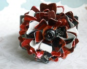 Aluminum Blooms DESI Flower Cuff (Four Loko) recycled aluminum can jewelry