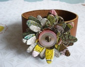 Aluminum Blooms Flowering Cuff (Arizona Arnold Palmer pink lemonade/sweet tea) recycled upcycled aluminum soda pop can jewelry