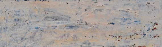 Forgotten Wall- Richly Textured Original Oil Cold Wax Pallete Knife Painting by Sarah Lapp