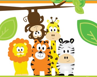 Popular items for jungle clipart on Etsy