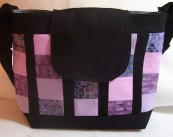 Patches of purple, lilac and pink Handbag
