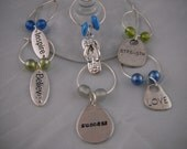 Flip Flop Wine Glass Charm Collection