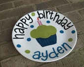 Handpainted Personalized Birthday Plate
