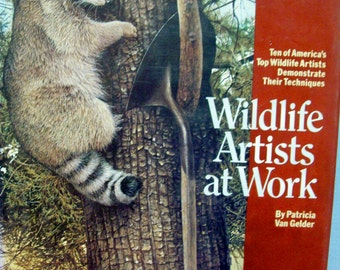 Wildlife Artists at Work Book, Patricia Van Gelder, 1982, Animals, Orca
