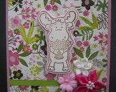 Flower Moose Card