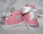 Blinged out infant shoes pink