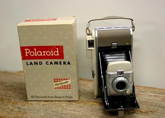 Vintage Polaroid Land Camera Model 80A Circa 1957
