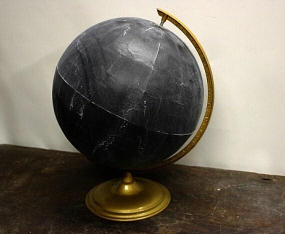 Vintage Globe Chalkboard