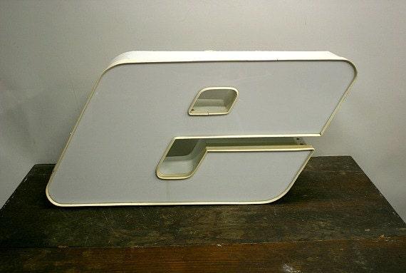 Vintage Industrial Letter e / Marquee Letter E / Letter e
