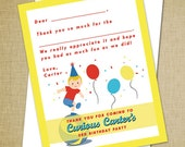 Curious George Inspired Thank You Cards - Set of 10