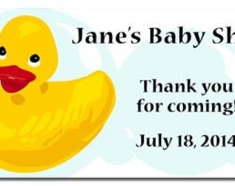 Rubber Ducky Baby Shower Favor Tag