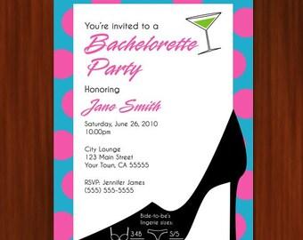 Bachelorette Party Invitation - PRINTABLE DIY