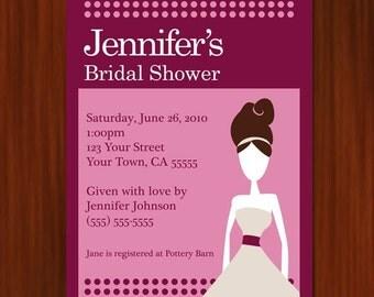Bridal Shower Invitation - PRINTABLE DIY
