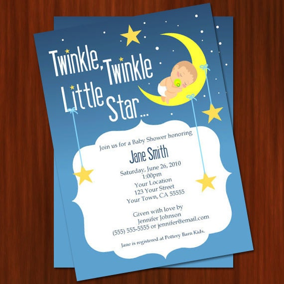 twinkle twinkle little star baby shower invitation printable diy