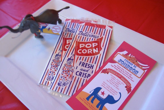 Carnival Circus Invitations - For Birthdays and Showers (Set of 70)