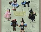 Wizard of Oz Character Hair Clips, Dorothy, Toto, Glinda, ... U Pick --
