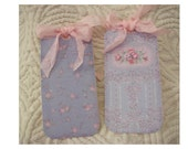 Soft Blues Antique Wallpaper Gift Tags - SET of 6