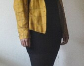 Coseout Sale: Mustard Yellow, Tan, and Black Blazer Jacket
