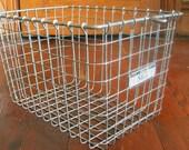 Set of 3 Vintage Wire Locker Baskets