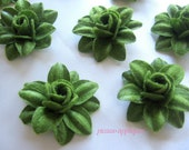 BIG Lovely 4D Holiday Green Felt Lily appliques embellishments and more