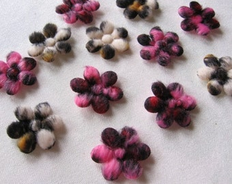 10 Cute Mini Wild Leopard Print furry felt padded appliques embellishments