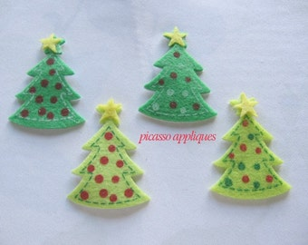 10pcs Christmas Tree Felt appliques embellishments stickers (FREE Combined Shipping) and more
