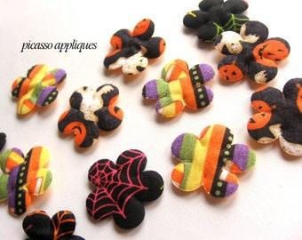 10 Harvest Stripe Mix Orange padded appliques embellishments