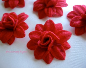 BIG Lovely 4D Red Felt Lily appliques embellishments and more