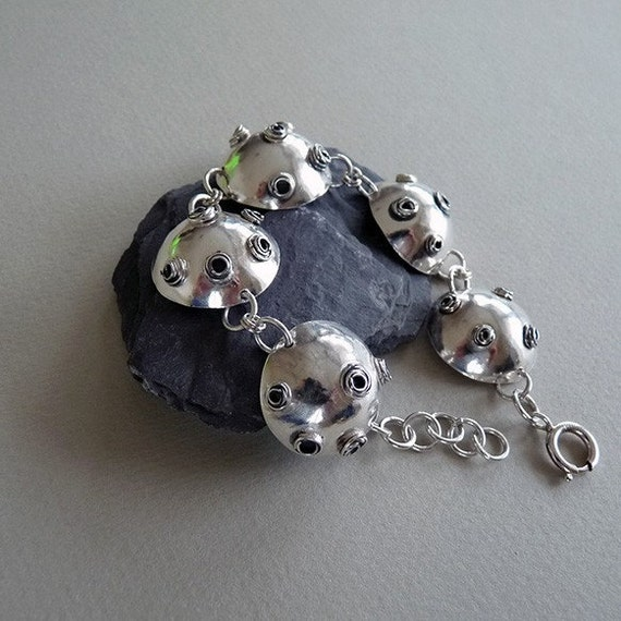 Sterling Silver Domed Bracelet