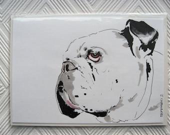 Mr Happy - Original Illustration Of Bulldog - Dog Illustration