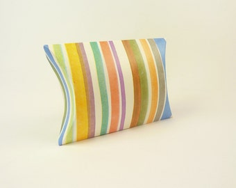 Multicolor pillow wedding favor box - Ideal for your wedding guests, packaging, bridesmaids gift, jewelry