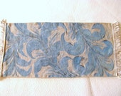 Vintage linen table runner (blue)