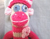 Miss Molly the Knitted Sock Monkey