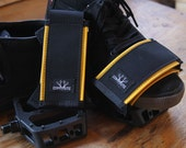 LIMITED RUN YELLOW - Strap On Bicycle Pedal Strap / Bike Foot Retention for Fixed / Mountain Biking  - Yellow & Recycled Commute Bags