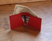 LIMITED RUN RED, Three Pocket Bi-Fold Wallet - 95% Reclaimed, Slim Design - Commute Bags