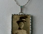 Fiona and The Fig  Victorian Photo Charm Soldered Necklace Pendant Charm