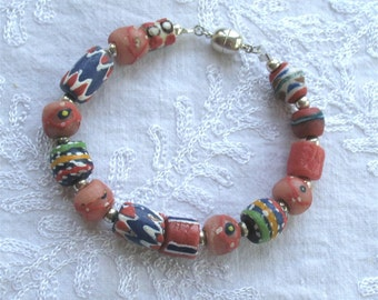 Cat Collar with African beads