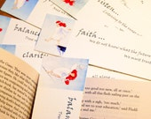 40 Inspirational Bookmarks with affirmations - a great gift for classes
