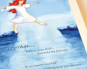 Courage Greeting Card - have courage in the dance towards your dreams